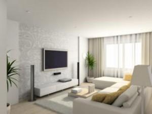 сочетание мягкой мебели и обоев