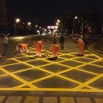 На трёх перекрёстках российской столицы появилась «вафельная» разметка