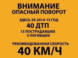 Опасные участки московских автотрасс предлагается оснастить специальными дорожными знаками, на которых будет указано количество аварий и погибших